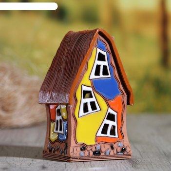 Аромалампа домик «новый», 13 см, ручная работа, микс