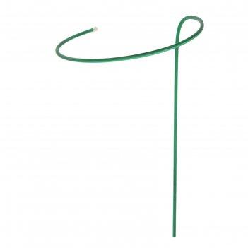 Кустодержатель, d = 40 см, h = 120 см, ножка d = 1 см, металл, зелёный