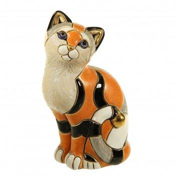 Фигурка рыжая кошка калико