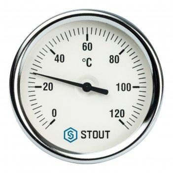 Термометр stout, биметаллический, с погружной гильзой 75 мм 1/2, корпус dn