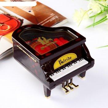 Шкатулка музыкальная рояль