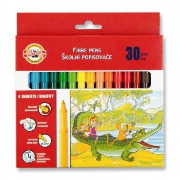 Фломастеры 30 цветов koh-i-noor 1002/30 картонная упаковка, европодвес