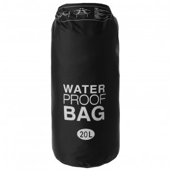 Гермомешок водонепроницаемый 20 литров, плотность 23 мкр, цвет черный