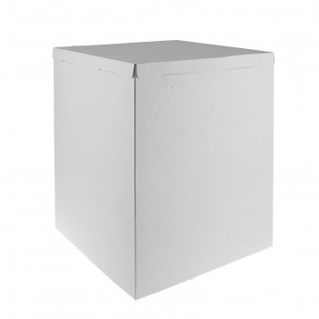 Кондитерская упаковка, короб белый 50 х 50 х 64 см