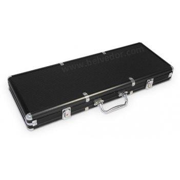 Алюминиевый кейс для фишек на 500 шт. черный цвет