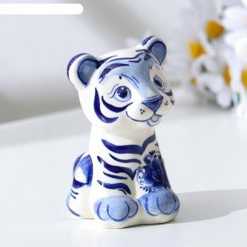 Сувенир тигр бонни, гжель