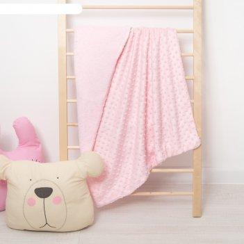 Плед крошка я 76*100 см розовый перламутр, вельбоа, велсофт, 100% пэ