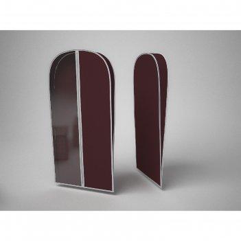 Чехол объемный для одежды большой «классик бордо», 60х130х10 см