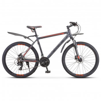 Велосипед 26 stels navigator-620 d, v010, цвет антрацитовый, размер 14