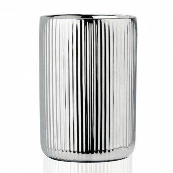 Andrea house стакан для зубных щеток silver ceramic