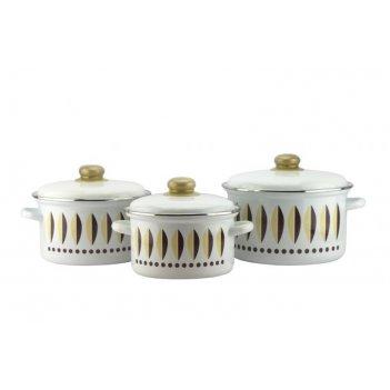 Эмал.набор 2-3158/4 магнитогорская эмаль кофейный 6пр. 3кастр. эмаль метал