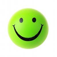 Мяч мягкий пластик зеленый смайл