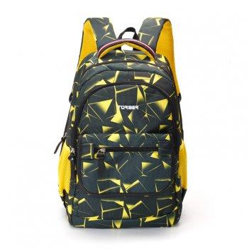 Рюкзак torber class x, черно-желтый с орнаментом, полиэстер, 45 x 30 x 18