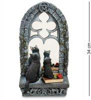 Ws-885 статуэтка кошка с котенком у зеркала