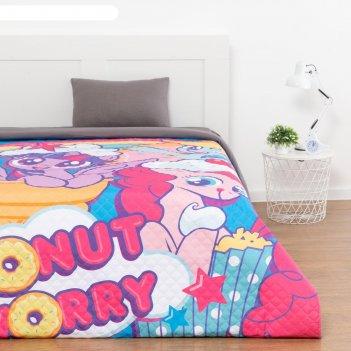 Покрывало donut worry  my little pony 1,5 сп, 145х210 см, микрофибра