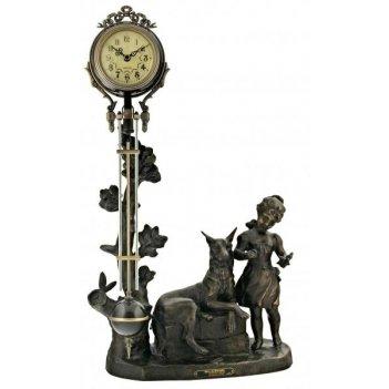Скульптурные часы восток французская бронза br-3130