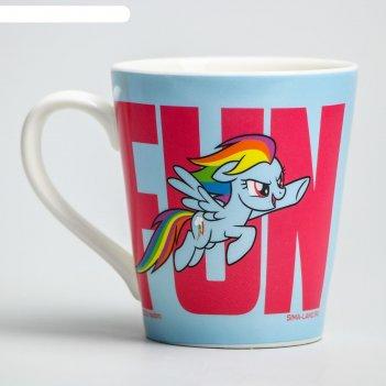 Кружка радуга дэш, my little pony  220 мл