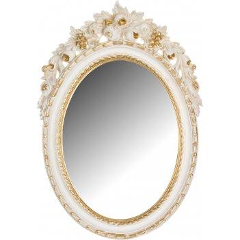 Зеркало овальное высота=50 см. ширина=34 см.
