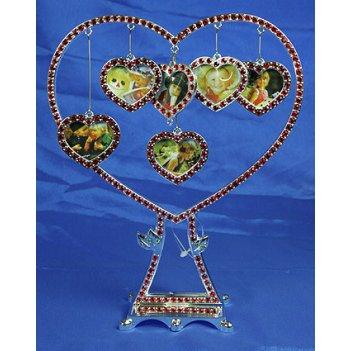 Фоторамка-дерево сердце на 6 фото 24*9*20см