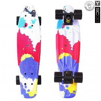 401g-sp скейтборд y-scoo fishskateboard print 22 винил 56,6х15 с сум