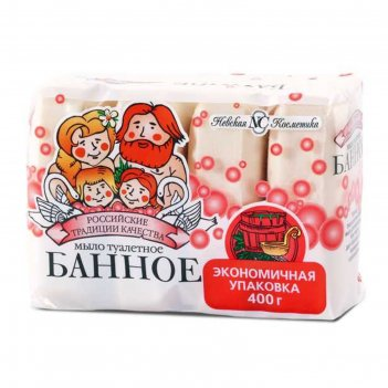 Мыло туалетное невская косметика «банное», 4 х 100 г