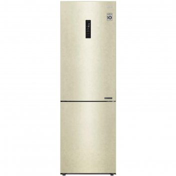 Холодильник lg ga-b459cesl, двухкамерный, класс а+, 374 л, total no frost,