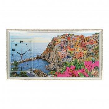 Часы-картина настенные, серия: природа, италия, 50х100  см, микс