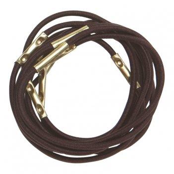 Резинки re025 для волос коричневые, midi (10 шт.)