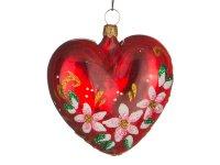 Ёлочное украшение сердечко очарование высота=6,5...