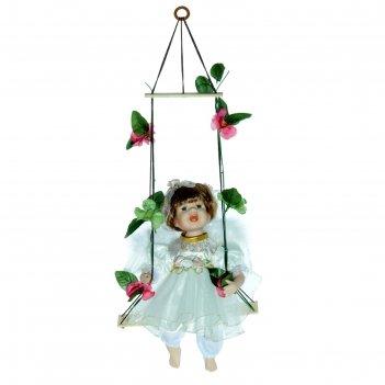 Кукла коллекционная маленькая ника на качели