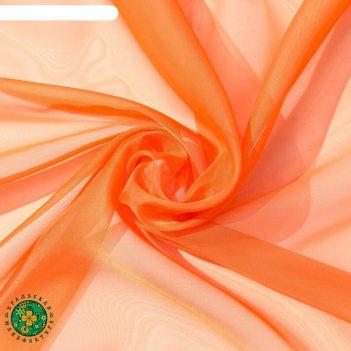 Тюль «этель» 145x270 см, цвет терракотовый, вуаль, 100% п/э