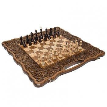 Шахматы + нарды резные виноградовый рай 60, harutyunyan