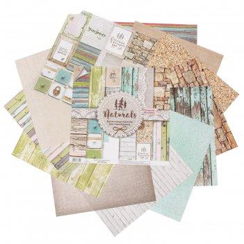 Набор бумаги для скрапбукинга  «naturals»13 листов 30,5 х 30,5 см, 180 г/м