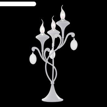 Настольная лампа a3239lt-3wh montmartre 3x40w e14 32x32x55 см