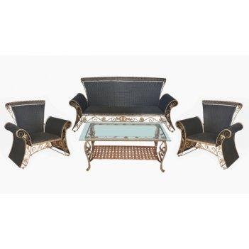 Комплект мебели из искусственного ротанга орфей