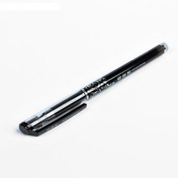 Ручка гелевая пиши-стирай 0,5мм стержень черный корпус тонированный