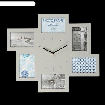 Фоторамка-часы innova w07369 серая 46x54 см