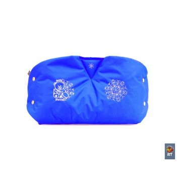 032241 муфта de luxe из овечьей шерсти+ прихватка,oxford 600d синий