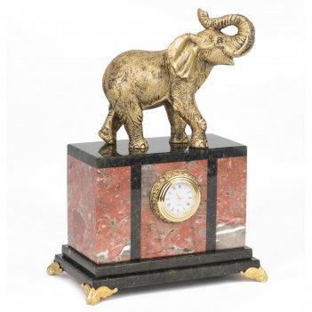 Часы слон креноид статуэтка мрамолит 175х105х245 мм 2800 гр.