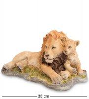 Ws-701 статуэтка лев с детенышем