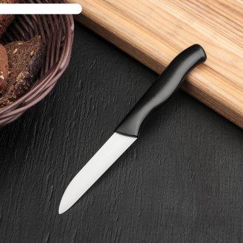 Нож samura овощной, циркониевая керамика, лезвие: 7,5 см, чёрная рукоять