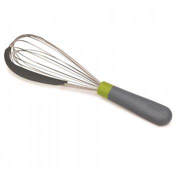 Венчик со скребком 2-в-1 whiskle серо-зелёный