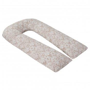 Наволочка к u-образной подушке для беременных, размер 35x340 см, дамаск ко