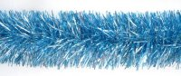 Мишура голубая, 9 см, 2 м