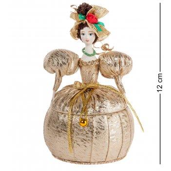 Rk-731/ 5 кукла-шкатулка дама в нарядном платье