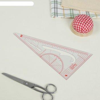 Лекало портновское метрическое «треугольник», 20,5 x 11 см, цвет прозрачны