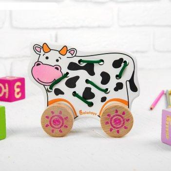 Каталка-шнуровка корова