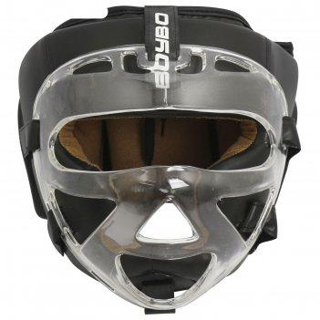 Шлем с пластиковым забралом boybo flexy bp2006, цвет чёрный, размер xl