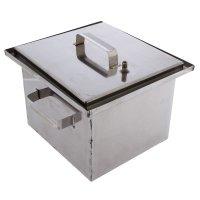 Коптильня с гидрозатвором малиновка  квадратная  - 29х27 см, 18,5 л