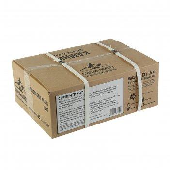 Камень для бани серпентинит колотый, коробка 20кг, фракиця 60-150мм